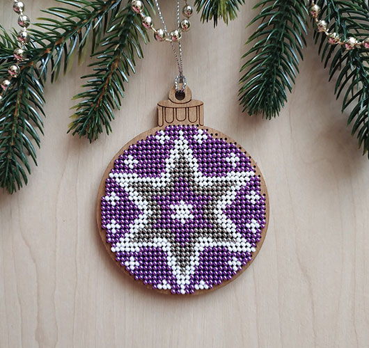 The photo shows - DIY Christmas decorations, fig. Ball