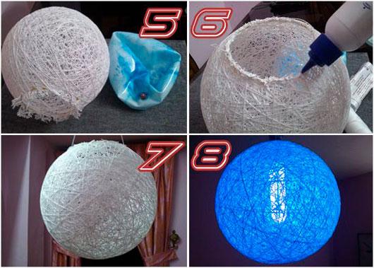 Les spectacles photo - un décor inhabituel: boules de fils, riz. Faire des balles 2.