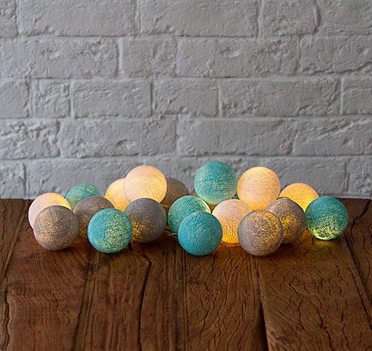Les spectacles photo - un décor inhabituel: boules de fils, riz. Guirlande de Garov