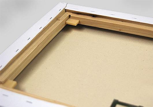 Fotoğraf, tuval, pirinç türlerini gösterir. Modüler alt çerçeve