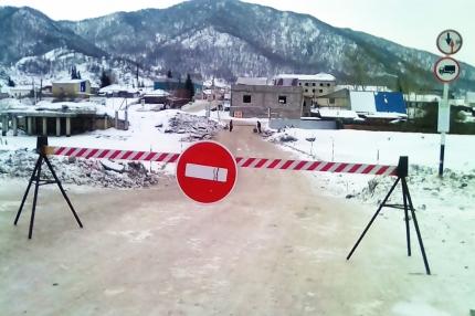 В Республике Алтай открыта первая ледовая переправа