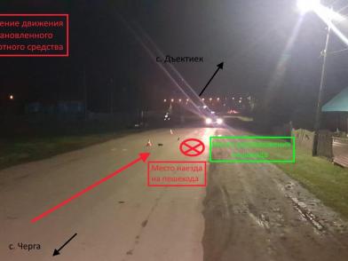 Полицейские разыскивают водителя сбившего пешехода и скрывшегося с места ДТП
