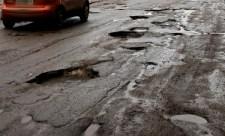 ямы на дорогах в Заволжье