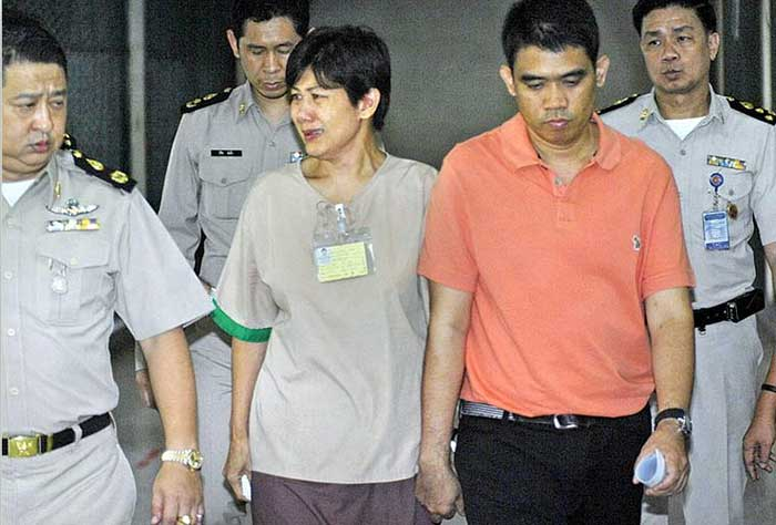 Sudathip Muangnuan and her husband, Pol.Col. Kowit Muangnuan,sentenced to 1.5 years in prison for encroaching on public land in Ratchaburi province
