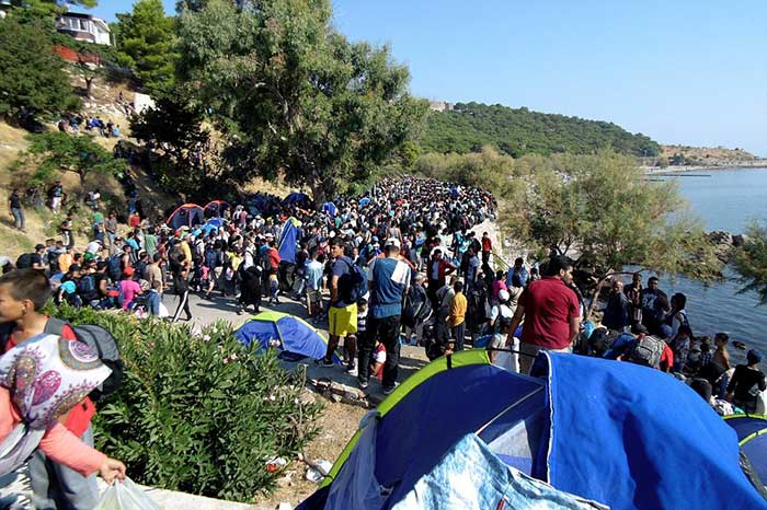 Around-1,000-Afghans-tried-to-occupy-Blue-Star-One-ferry-on-the-island-of-Lesbos-shouting-'Athens-Athens'-this-morning