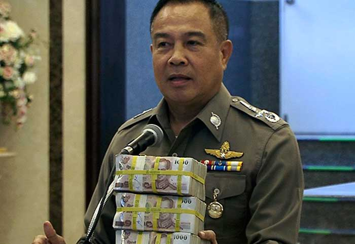 Thailand's Police Chief, General Chakthip Chaijinda ( Net Worth = 1 Billion Baht)