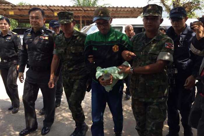 A-Spanish-man-who-is-the-prime-suspect-in-the-gruesome-murder-of-a-fellow-Spaniard-was-arrested-in-Cambodia-and-will-be-sent-to-Thailand-soon,-said-Cambodian-police.