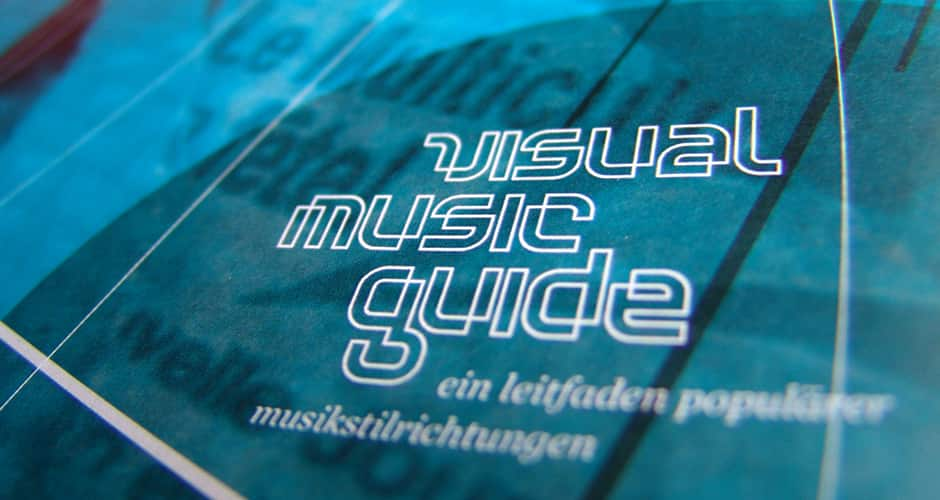 Grafikdesign des Visual Music Guides