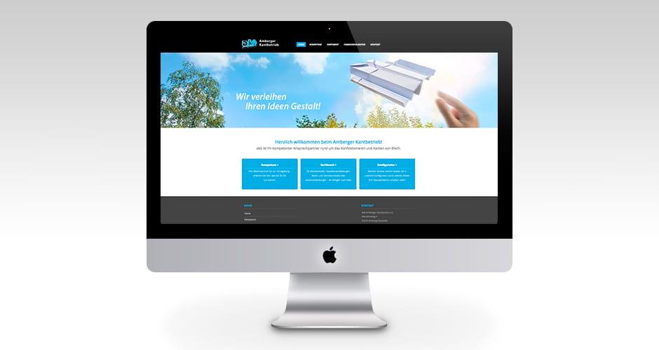 Webdesign für Amberger Kantbetrieb