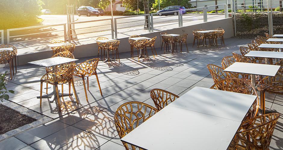 Architekturfotografie Cafeterrasse Amberg