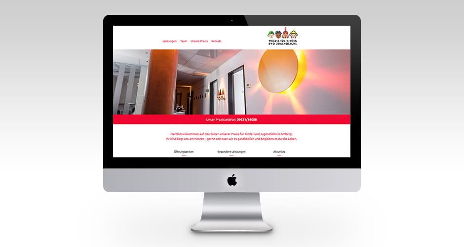 Responsive Webdesign für eine Kinderarztpraxis in Amberg