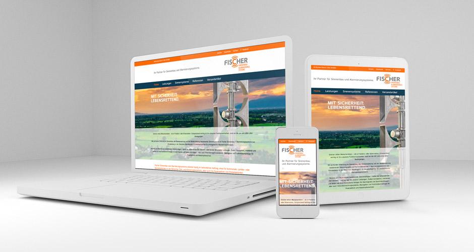 zweckdesign responsive webdesign für sirenenbau fischer