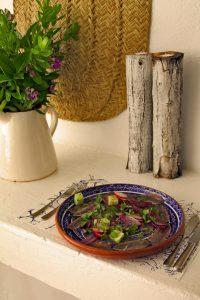 Algarve Vorspeise Sardellen mit Radieschen und Gemüse