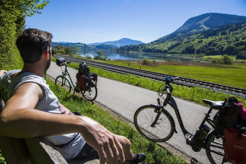 E-Bike am Alpsee Pause