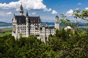 Das Schloss Neuschwanstein bei Füssen