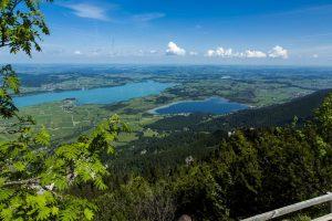 Tegelbergblick auf die Seen bei Füssen