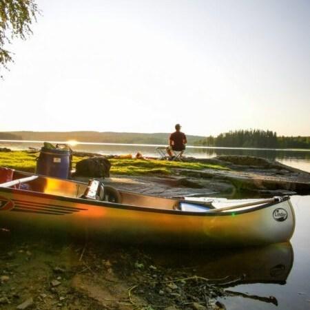 Kanutour Schweden: Bene am Zeltplatz