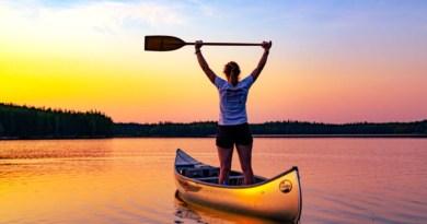 Kanutrip Schweden Sonnenuntergang
