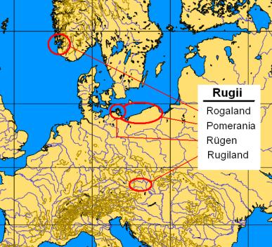 territori dei rugi dal I al V secolo