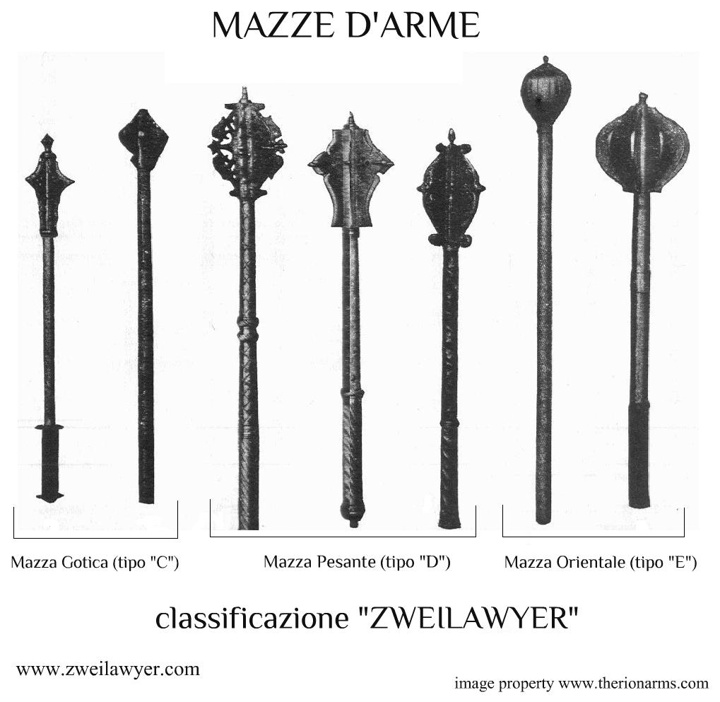 mazze d'arme classificazione zweilawyer