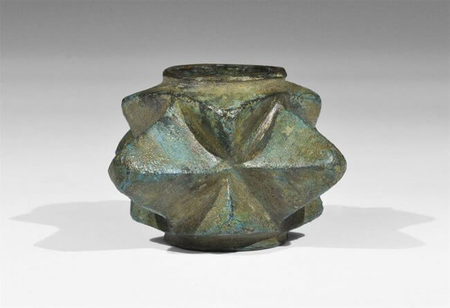 testa di mazza in bronzo del XIV-XV secolo