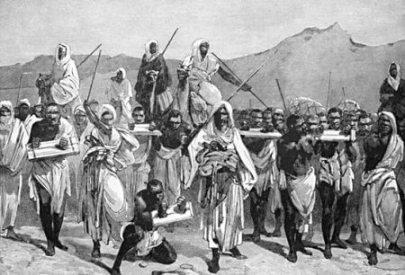 Schiavi neri condotti dai padroni beduini