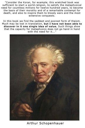 Arthur Schopenhauer citazione sull'islam