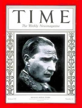 copertina del Time con Ataturk