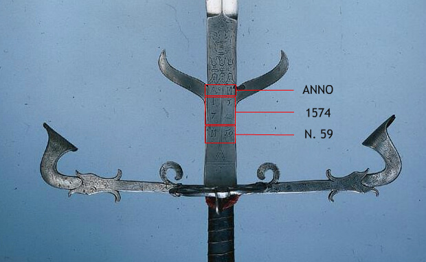 dettaglio spada brunswick