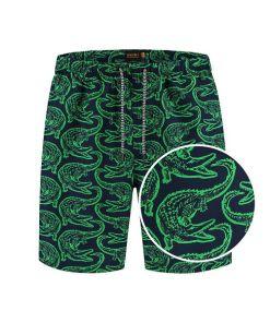 heren zwembroeken met groene krokodillen print