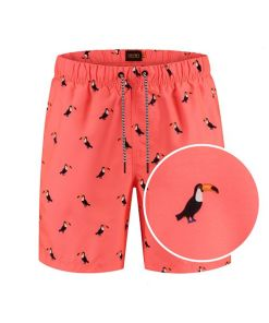 heren toucan zwembroek neon orange