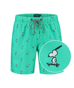 Snoopy happy skater heren zwembroek