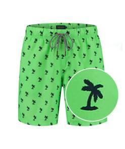Groene heren zwembroek