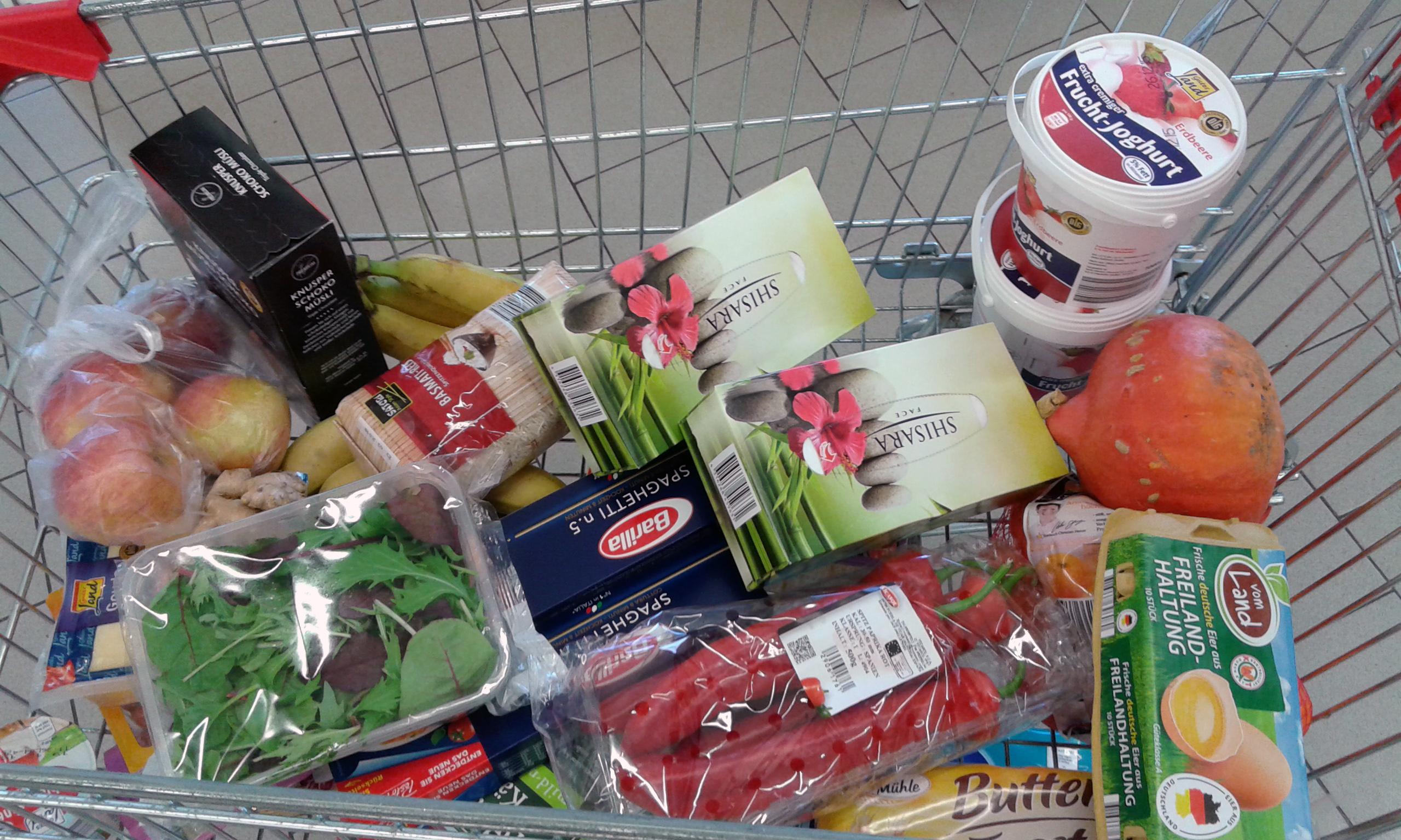 Stress im Supermarkt