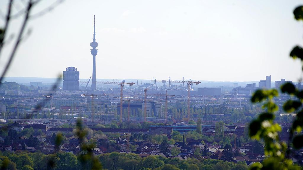 Blick auf München Nordwest