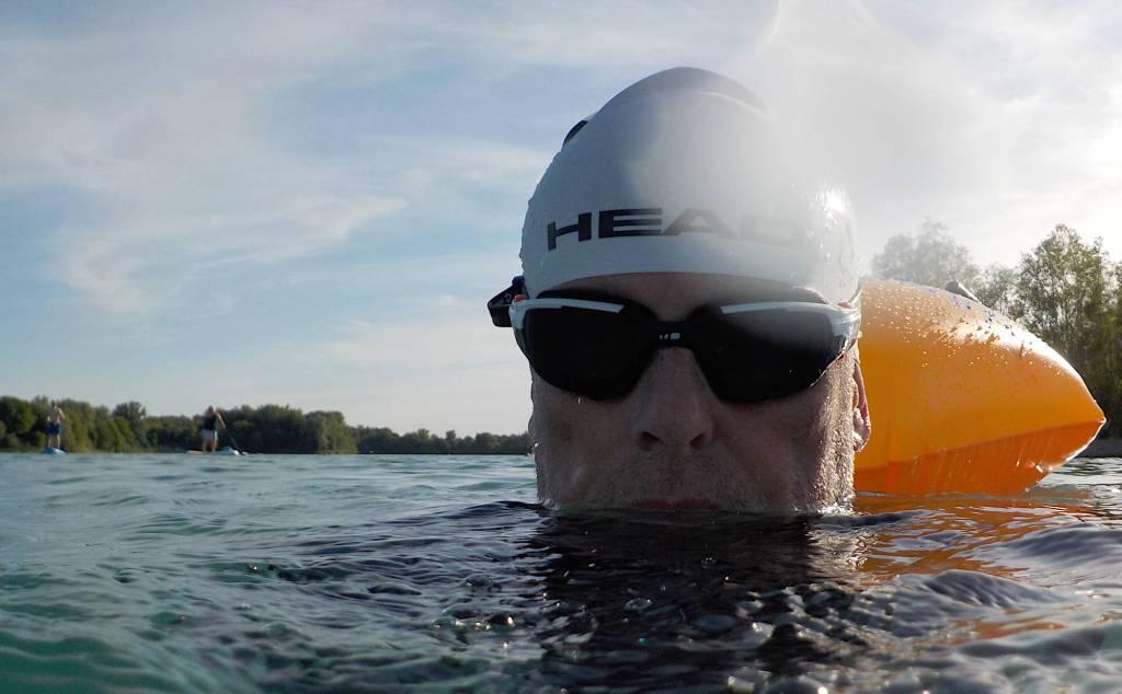 Schwimmer im Hollerner See