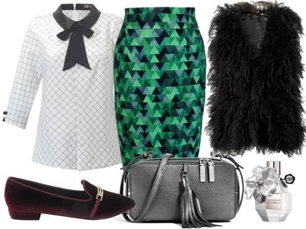 luzka - Midori Feminine Fashion/midori.com, spódnica - More'moi/moremoi.com, buty - Menbur/menbur.pl, torebka – Boca/coca.pl, perfumy – TK MAXX, kamizelka CristinaEffe/ cristinaeffe.com