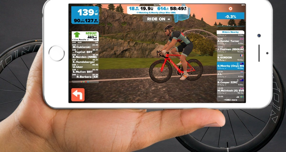 Zwift for iOS available now