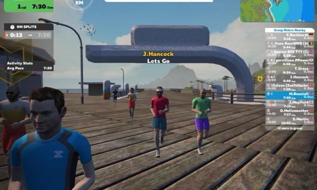 First Official Zwift Running Event