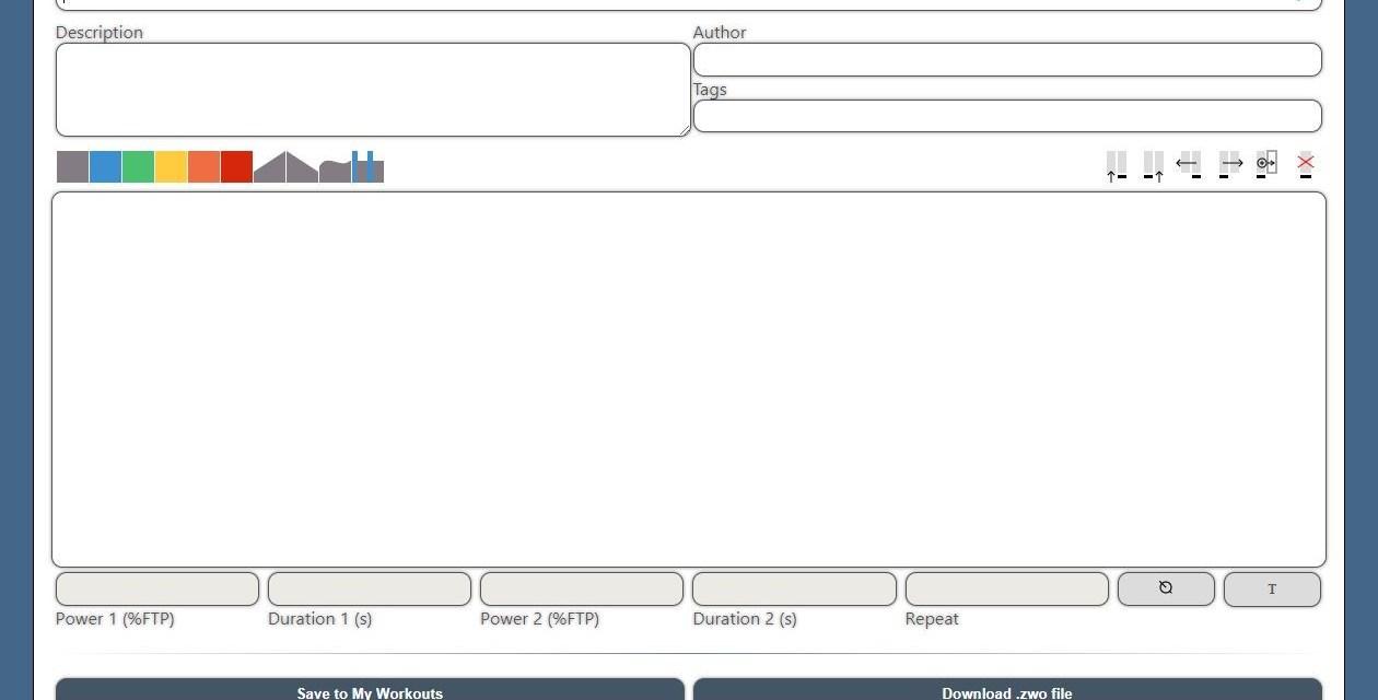 ZWOfactory: the Web-Based Zwift Workout Creator