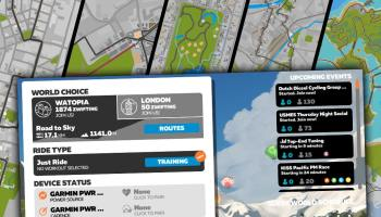 How to ride any Zwift course at any time using the <world