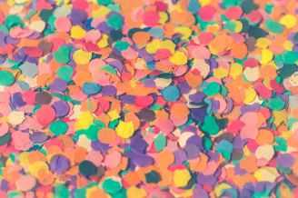 assorted colors paper cutouts closeup photo