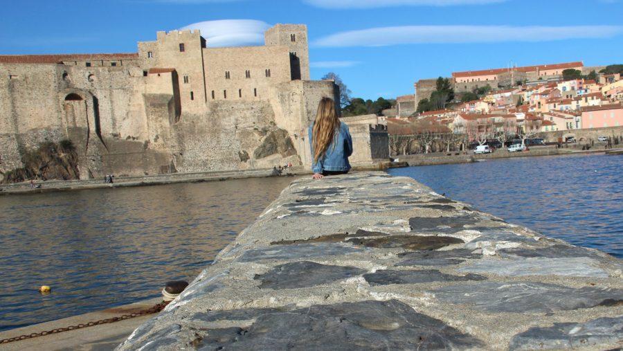 Blick auf das Château Royale von Collioure.