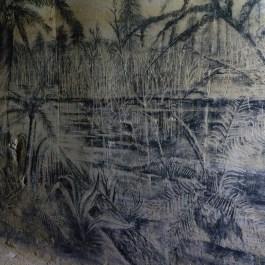 Historische Wandmalerei in der Fluweelengrotte Valkenburg