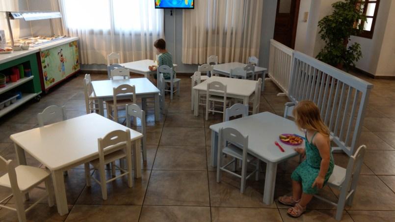 Die Sitzgruppe im Restaurant für die Kinder