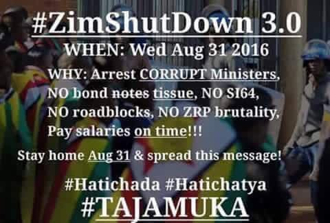 Zimbabwe Latest News: Protests on 31 August, 2 September, This Week