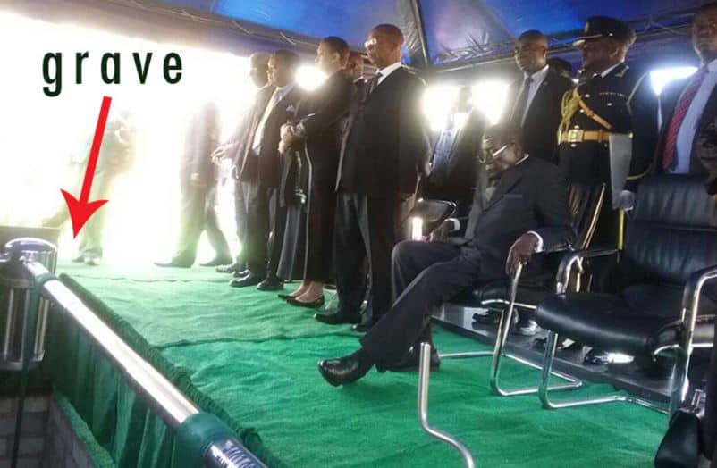 Dead but not, Mugabe runs his beloved country from the grave