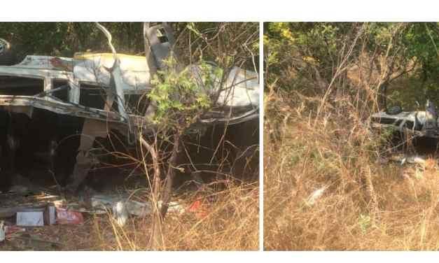 5 passengers killed on the spot when speeding kombi overturns on highway