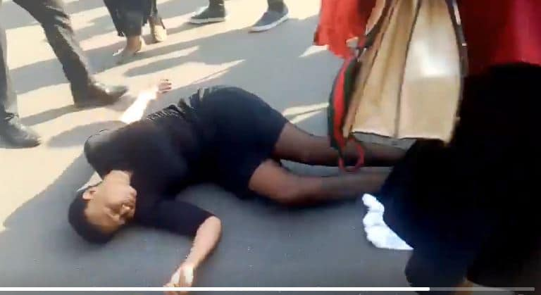 PICTURES: MDC MPs assaulted by police, Injured, Thabitha Khumalo collapses