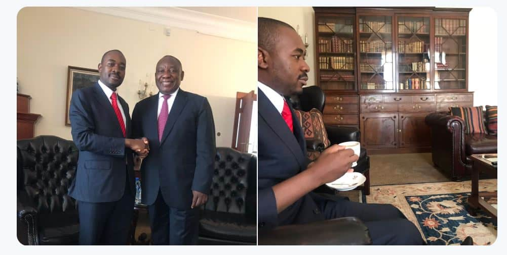 PICTURES of Nelson Chamisa meeting Ramaphosa in South Africa